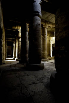 The Darken Hall of the Temple of Seti I at Abydos