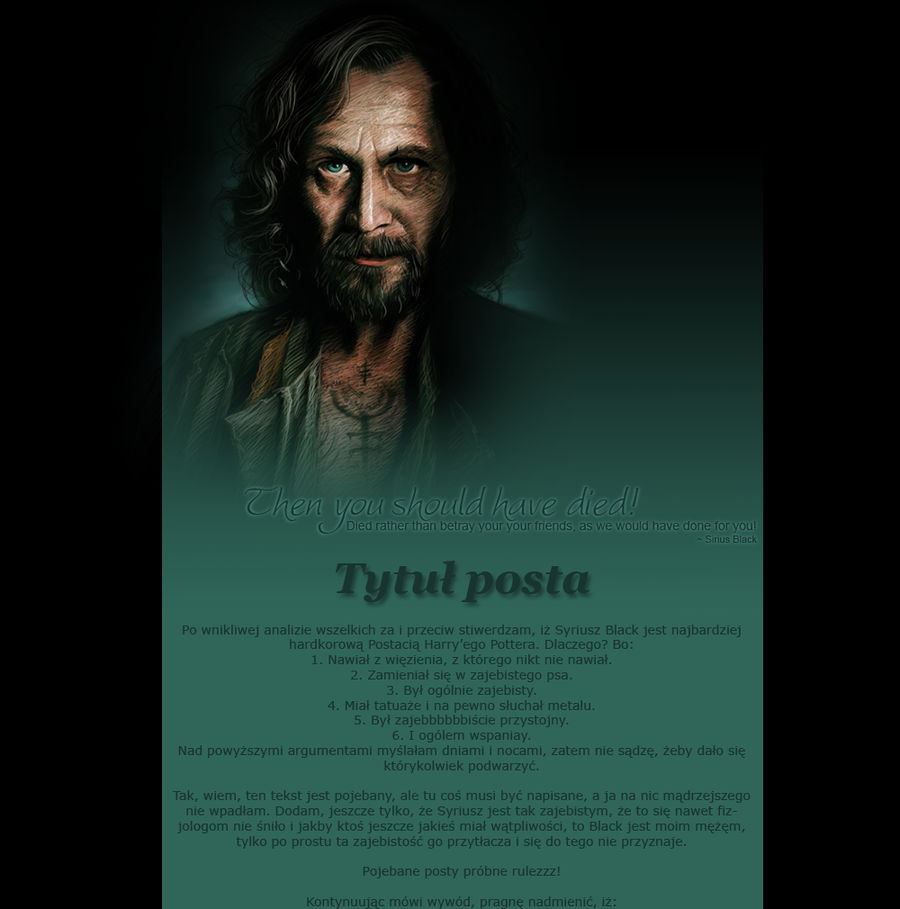 Template for blogspot: Sirius Black by stradlinsappetite on