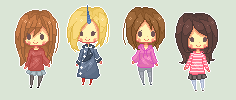 Pixel chibis :D by NekoMayumi