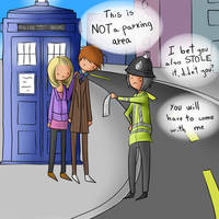 The Doctor and Rose in Trouble