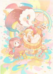 Madoka : Tea time party by H2O-kun