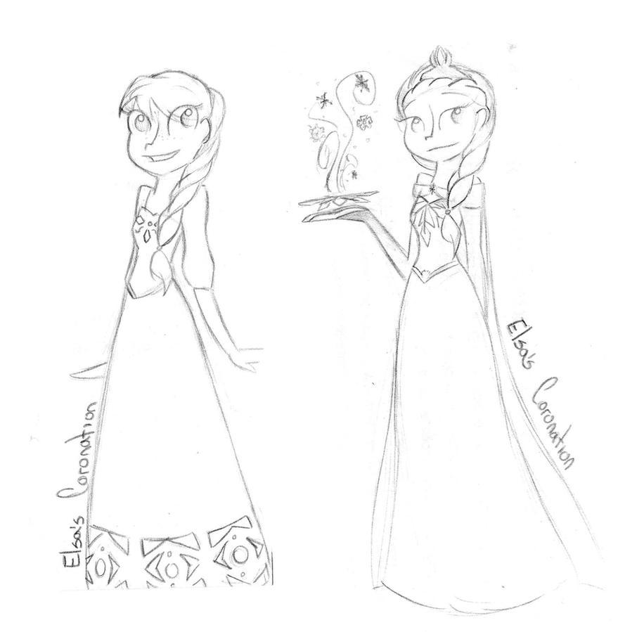 Elsa's Coronation by Tutuna99