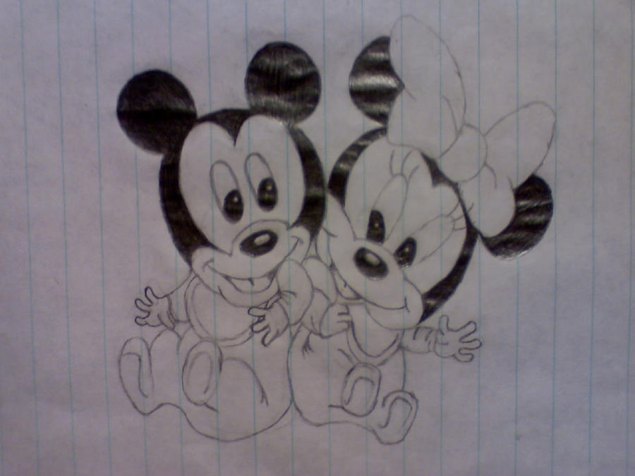 Baby Mickey and Minnie...