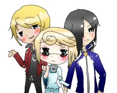 Gift:Klavier, Daryan and Machi by Lilycal