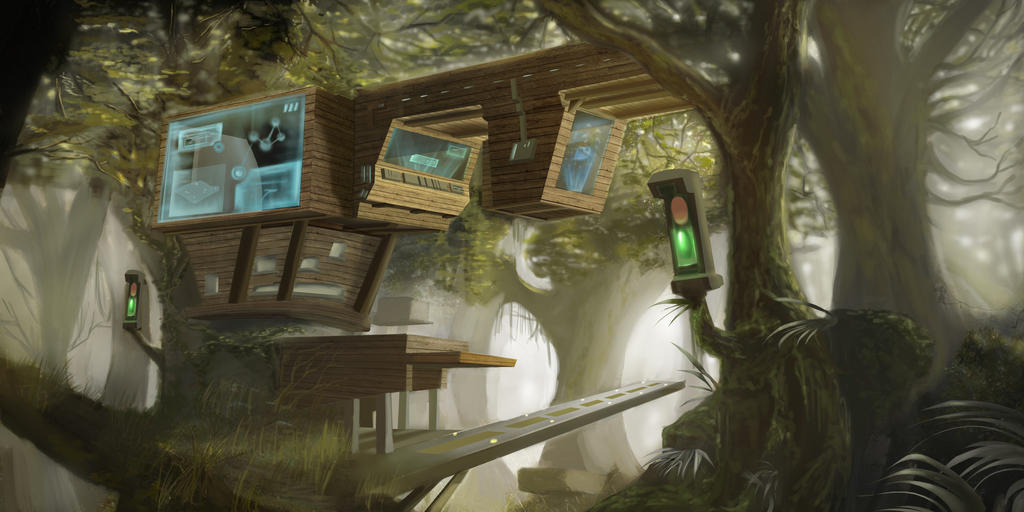 Futuristic Tree House Environment By JordanSZF