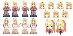 Victoria's sprites 1 (DDLC OC) by fabuwhatsoeverfox