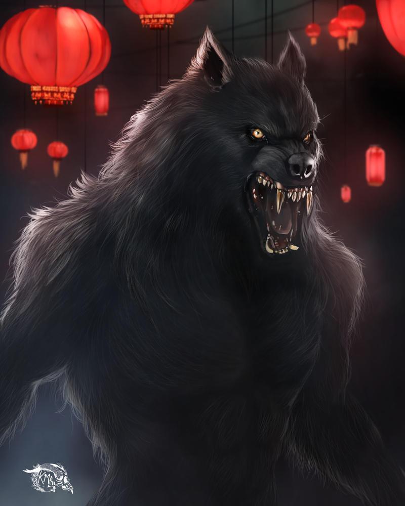 Werewolves of London- Shrouded Werewolf by kmjoen