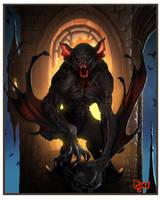 Vampire bat creature by kmjoen