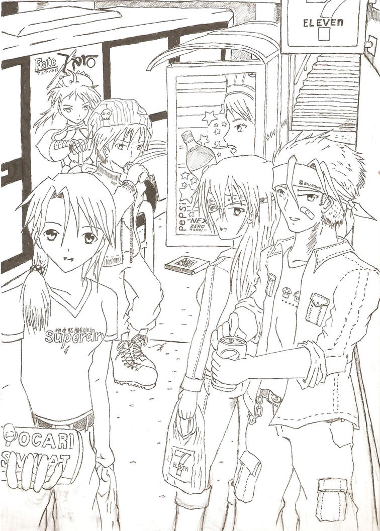 Drawings Anyone? - Page 15 Casual_get_together_by_hiroshimax-d4fwnkp