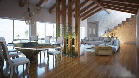 Rural tourism - living room by angelofernandes