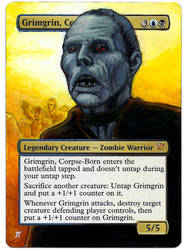Grimgrin, Corpse-Born Day of the Dead painted MtG by iplaythisgame