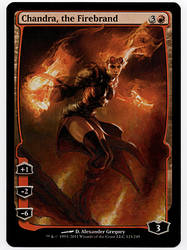 Chandra the Firebrand Full art painted MtG Alter by iplaythisgame