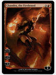 Chandra the Firebrand Full art painted MtG Alter