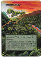 Mountain Valley extention painted Mtg Alter by iplaythisgame
