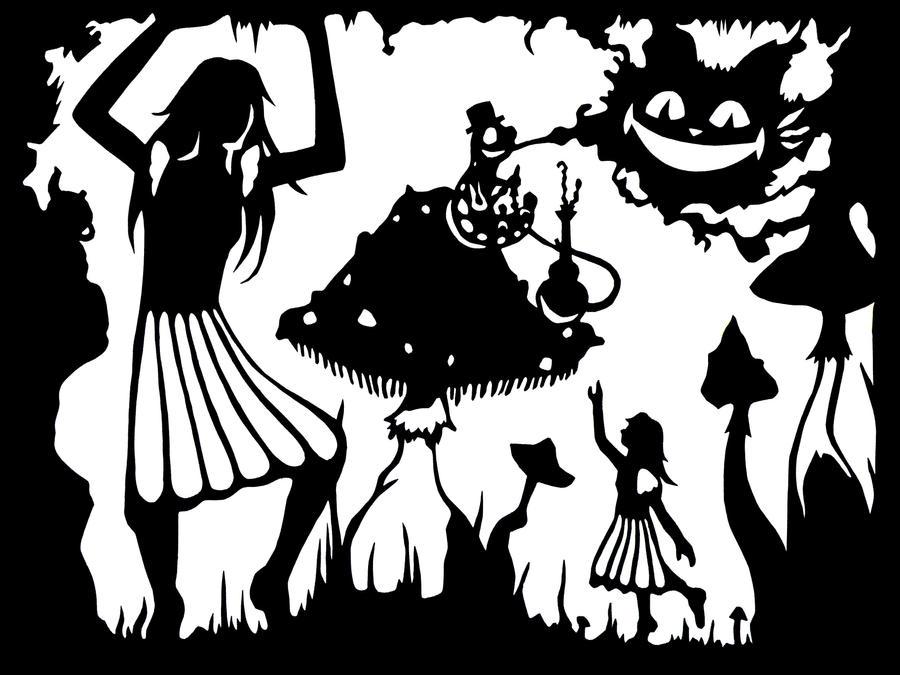 Alice in wonde  Alice In Wonderland Rabbit Stencil
