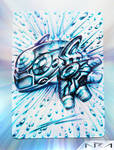 Ultra Pen Art - Primal Kyogre - by NurRayArt by NurRayArt