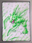 Ultra Pen Art :: Scyther :: by NurRayArt by NurRayArt
