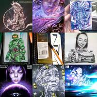 Creative Art Summary of 2020 by NurRayArt