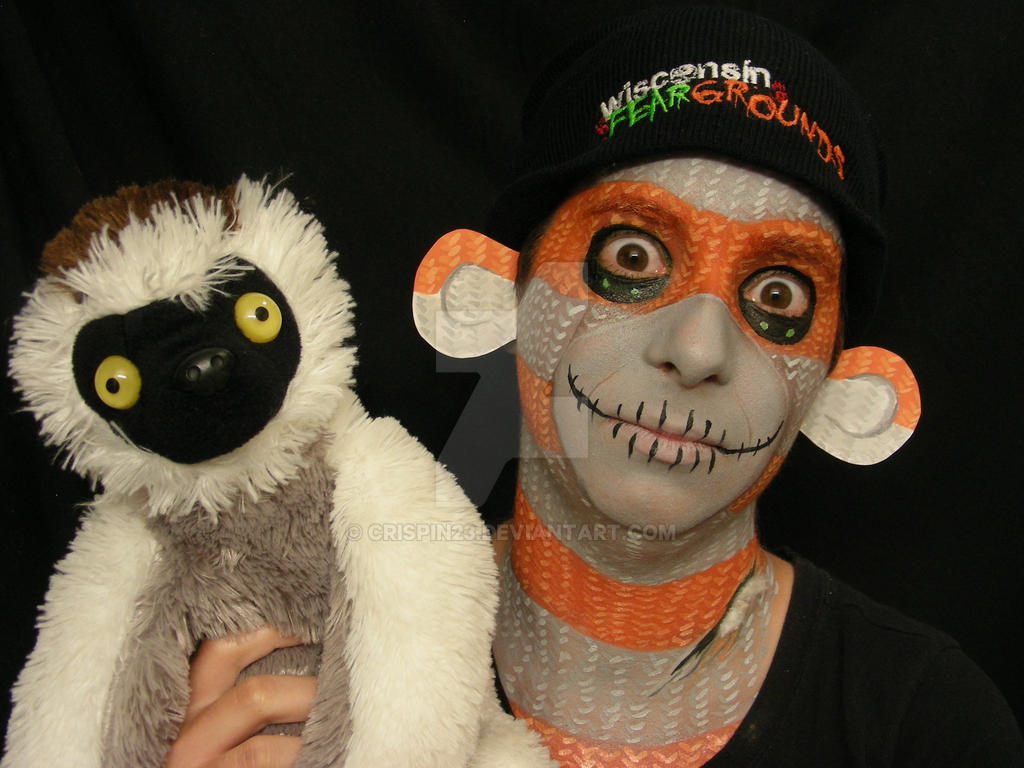 halloween sock monkey : with lemur!crispin23 on deviantart