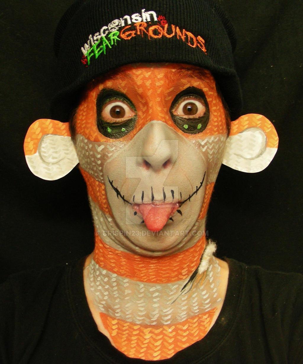 halloween sock monkey : silly!crispin23 on deviantart