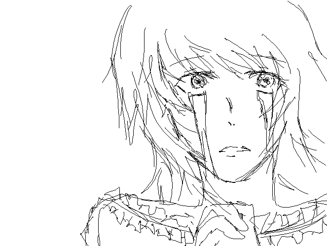 Anime Girl Crying Sketch By Kira-Asakura On DeviantArt