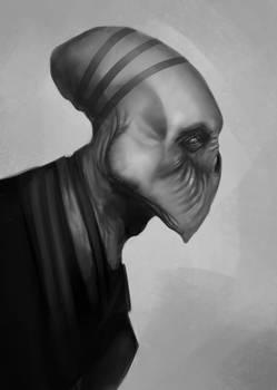 Alien Head Sketch #1