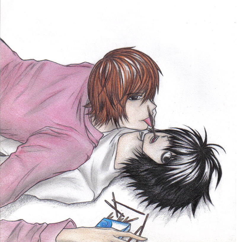 Death Note images Chibi L and Light wallpaper and