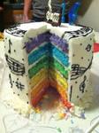 Musical Rainbow Cake by TreyaLynn