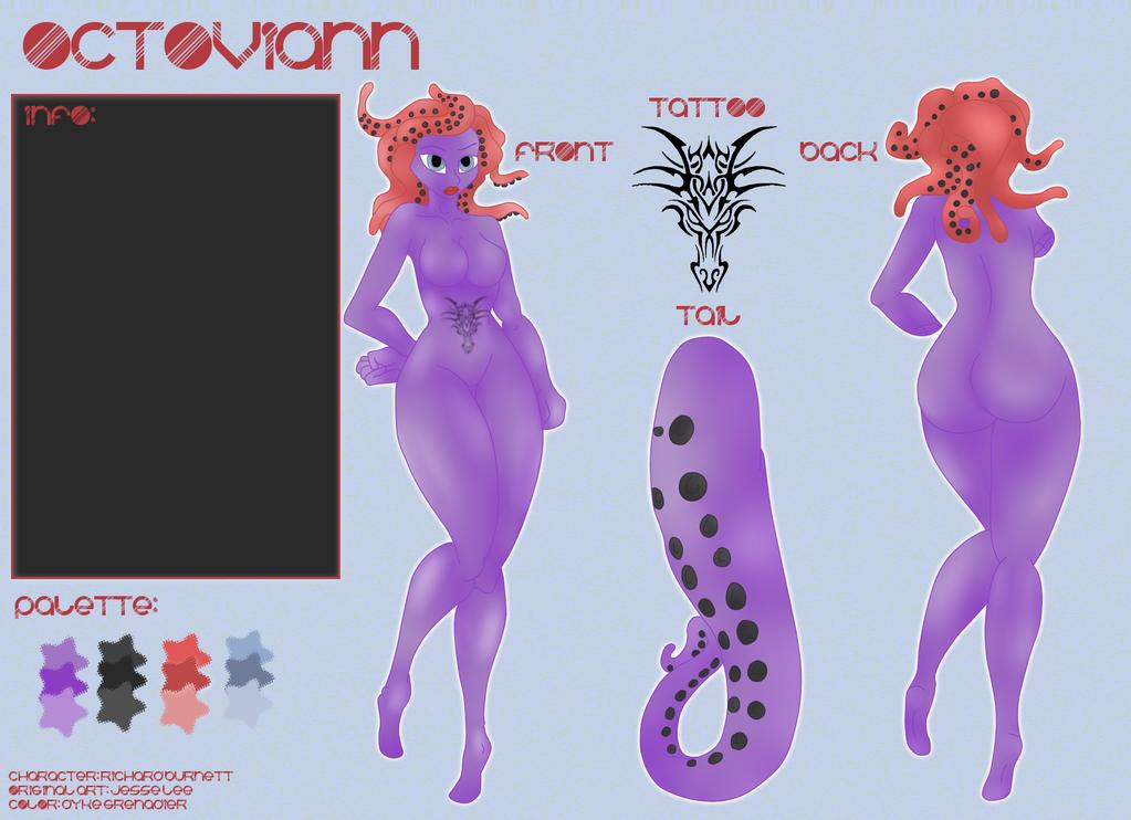 Ref Sheet: Octoviann by Emmi-Heldt