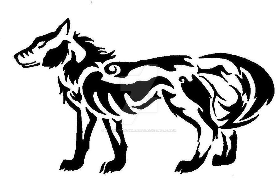 Wolf Tribal Tattoo By Wildmind Untamedsoul On Deviantart