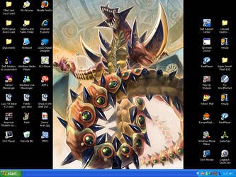 Badass Dragon Desktop by Salem-the-Psychic
