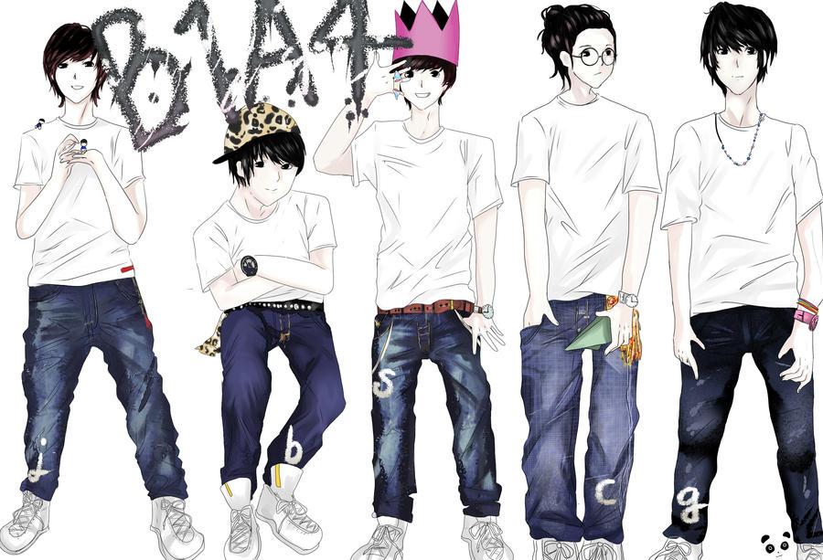 B1A4 Kpop Group Fanart By PandaRabu