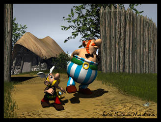Obelix and Asterix by Suzu2