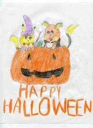Halloween Pikachu and Raichu