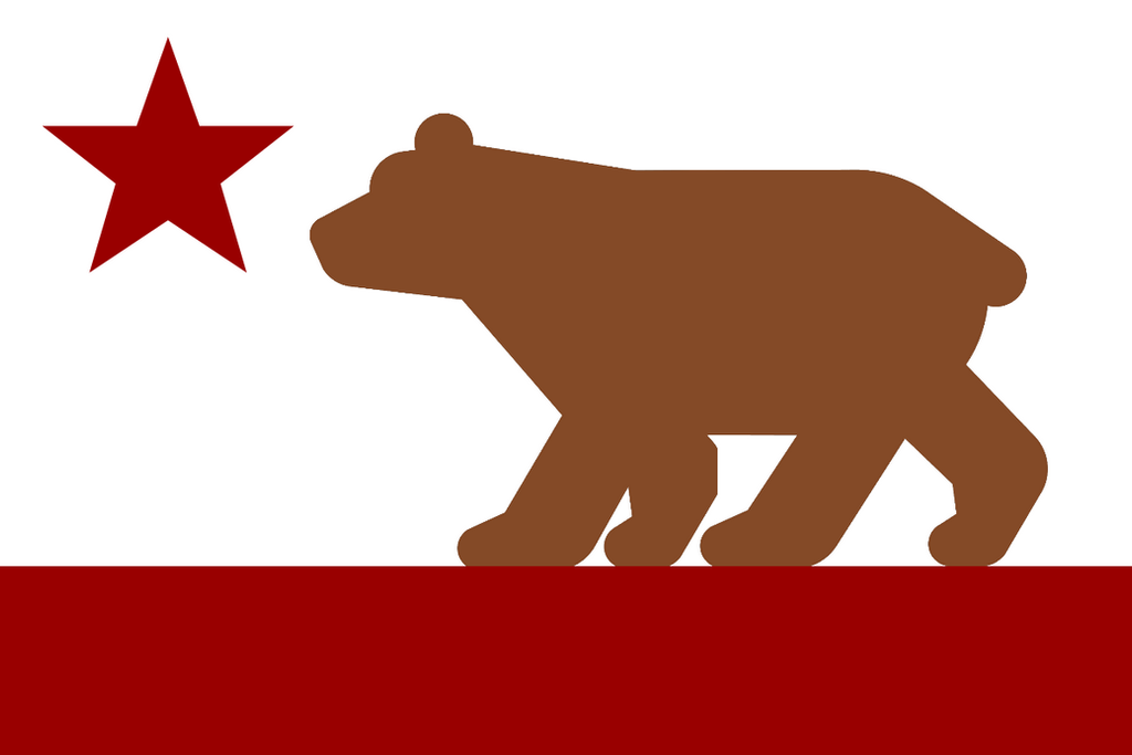 The flag of the PDR of California by FerdinandRosenthal
