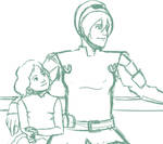 Toph and Lin Sketch