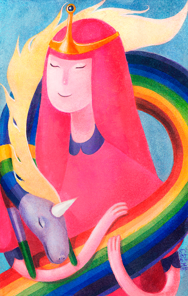 Princess Bubblegum and Lady Rainicorn by gremo
