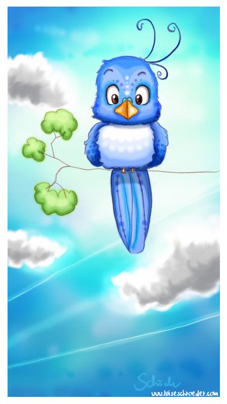 blue sky-bird