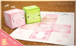 little pig papertoy