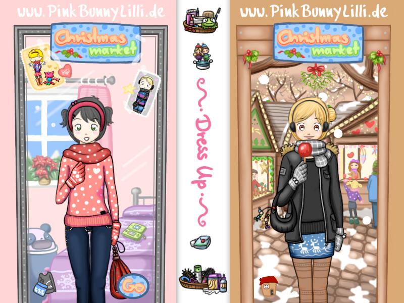 Christmas Market Game by PinkBunnyLilli