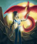 Rise of the phoenix - night sketch