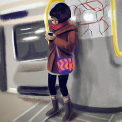 Subway Sketch - On the map
