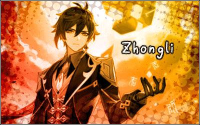 Zhongli genshin impact banner