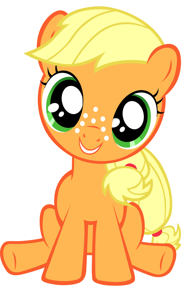 My favourite pictures, and things. (image heavy) Filly_applejack_vector_by_anevilzebra-d56nsmp