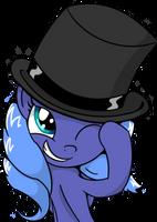 Luna in a Top Hat by AnEvilZebra