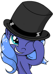 Luna in a Top Hat