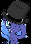 Luna in a Top Hat