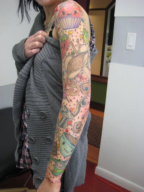 Cute 1 - sleeve tattoo