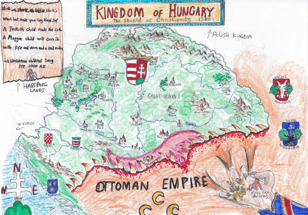 Kingdom of Hungary map by cpmcpm13 on DeviantArt