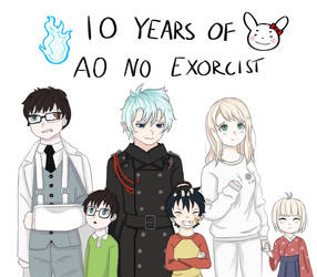 AO NO EXORCIST 10TH ANNIVERASRY!! by Filixious